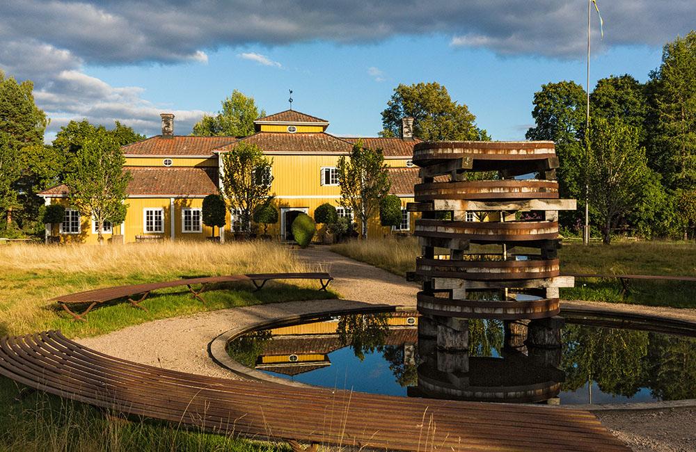Del av trädgården på Tage Andersens Gunillaberg