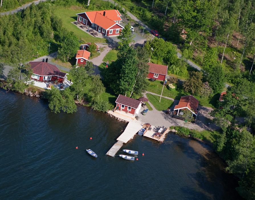 Flygbild över Paradis Fiskecamp