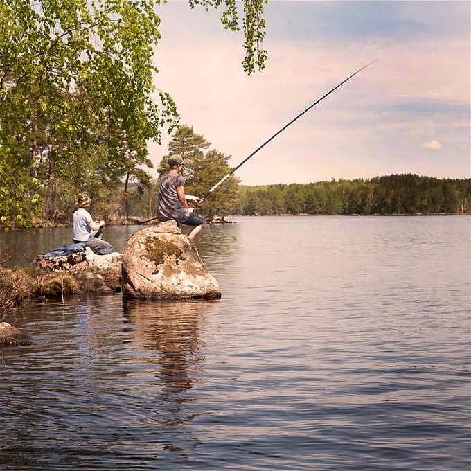 Fiskare vid Sandviks fiskecamp