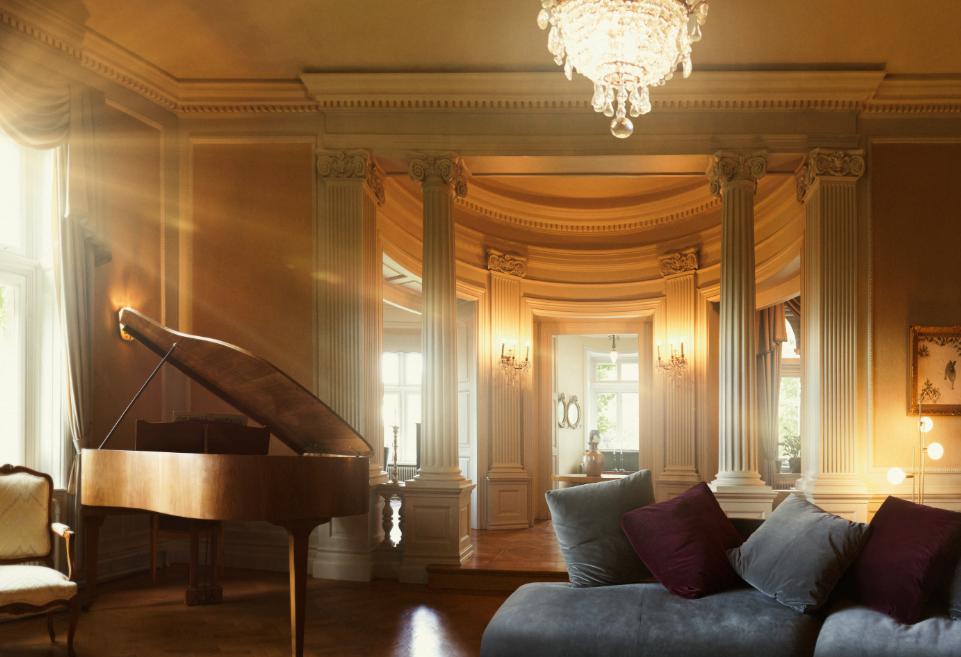 piano på slottsvillan i Huskvarna