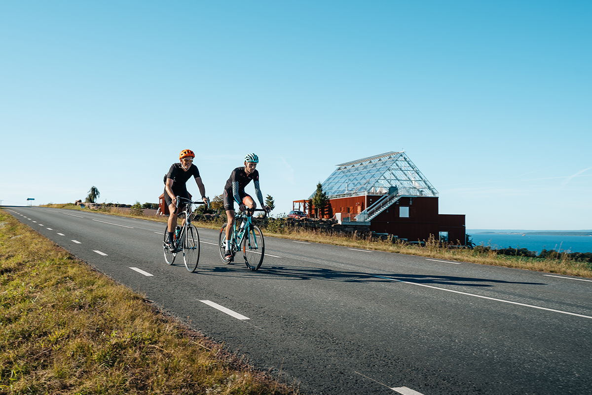 Mailroad bike in Småland