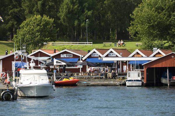 Der Hafen von Visingsborg auf der Insel Visingsö
