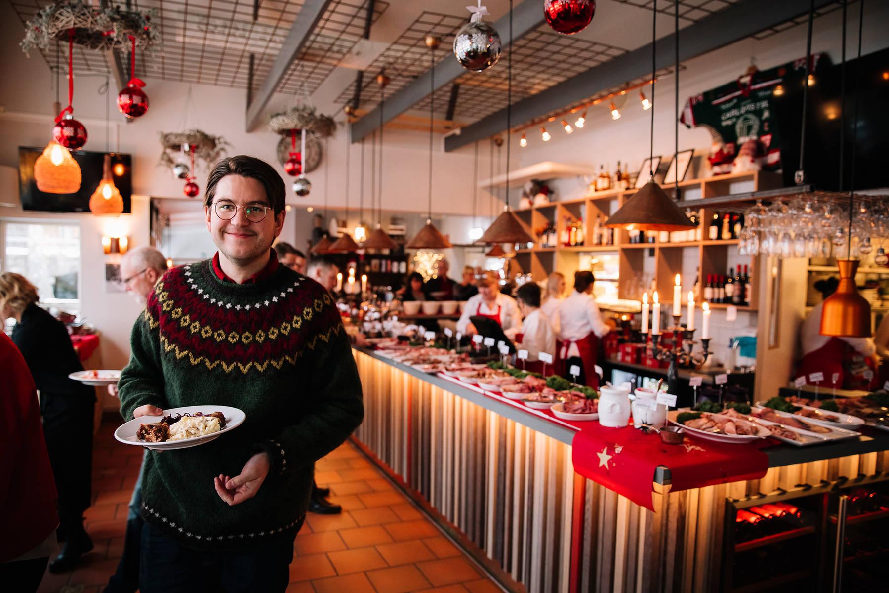 Das festliche Julbord von Korrö in Småland