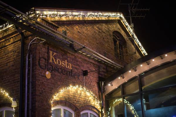 Weihnachtsbeleuchtung in Kosta