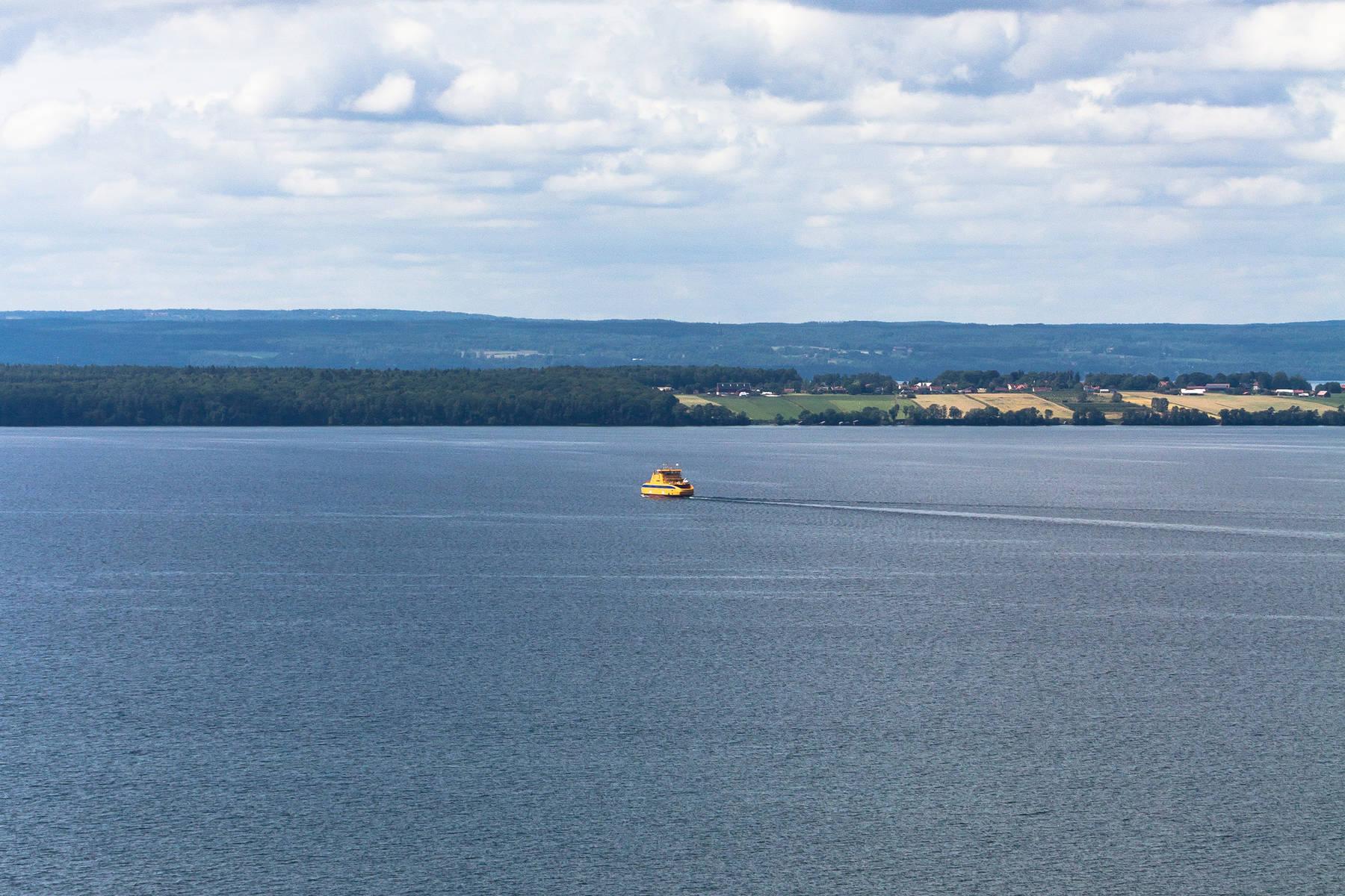 Eine halbe Stunde dauert die Fährfahrt von Gränna zur Insel Visingsö
