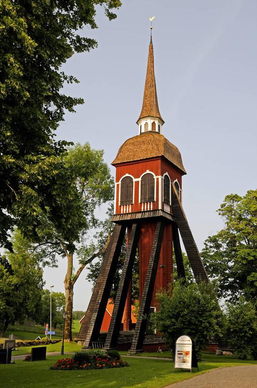 Glockenturm der Kirche Habo Kyrka in Småland