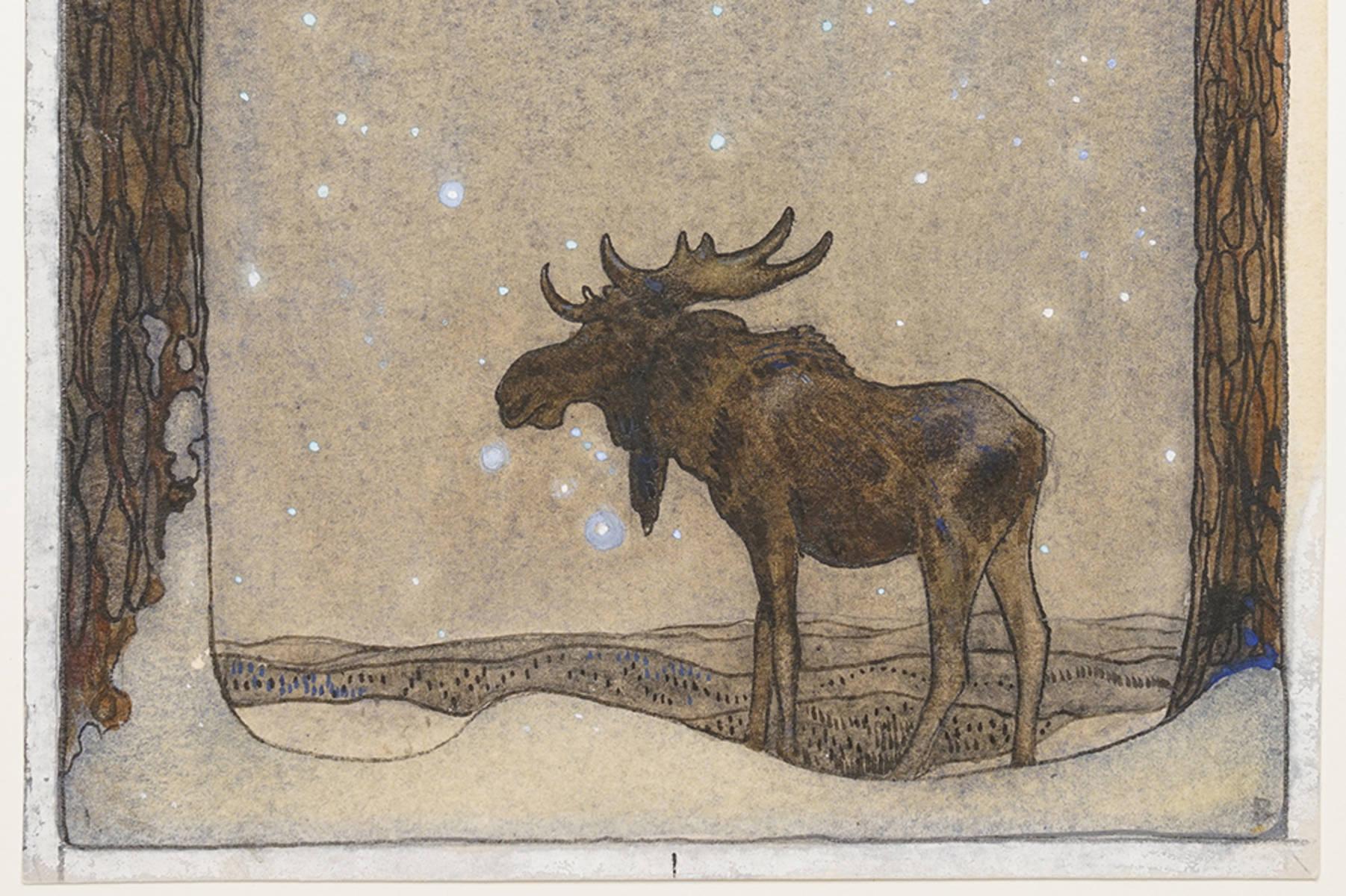 John Bauer: Älgskyttarna (gemalt 1912)