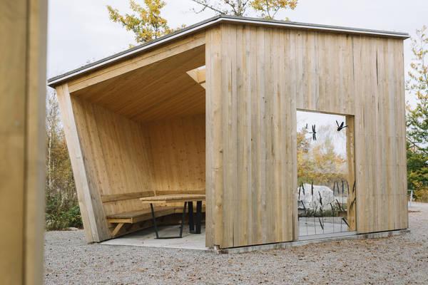 Nationalpark Åsnen in Småland, Eingang Trollberget