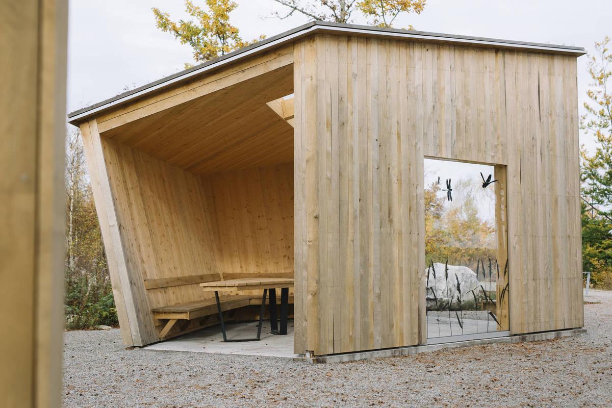 Nationalpark Åsnen in Småland, Eingang Sunnabron