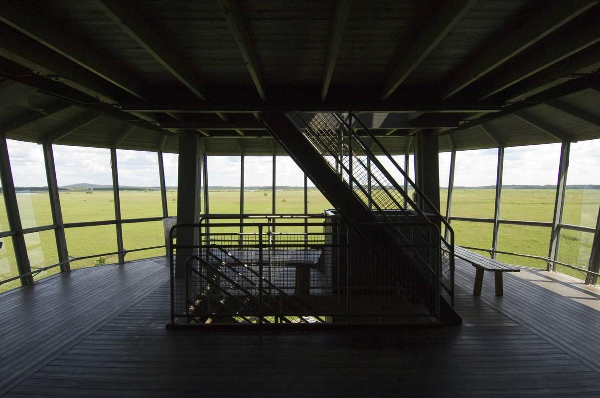 Vogelbeobachtungsturm im Nationalpark Store Mosse