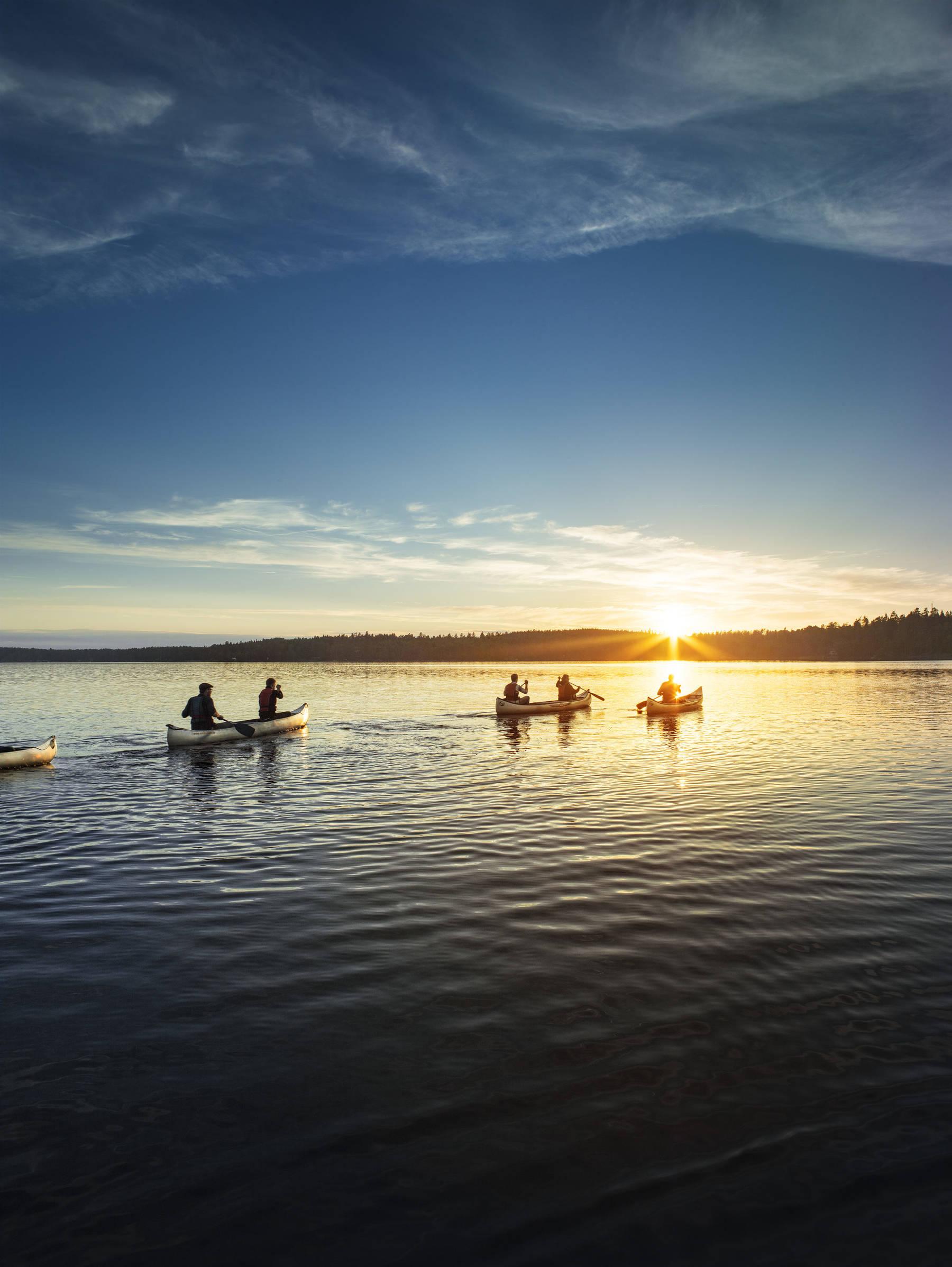 Mit dem Kanu in den Schären von Småland