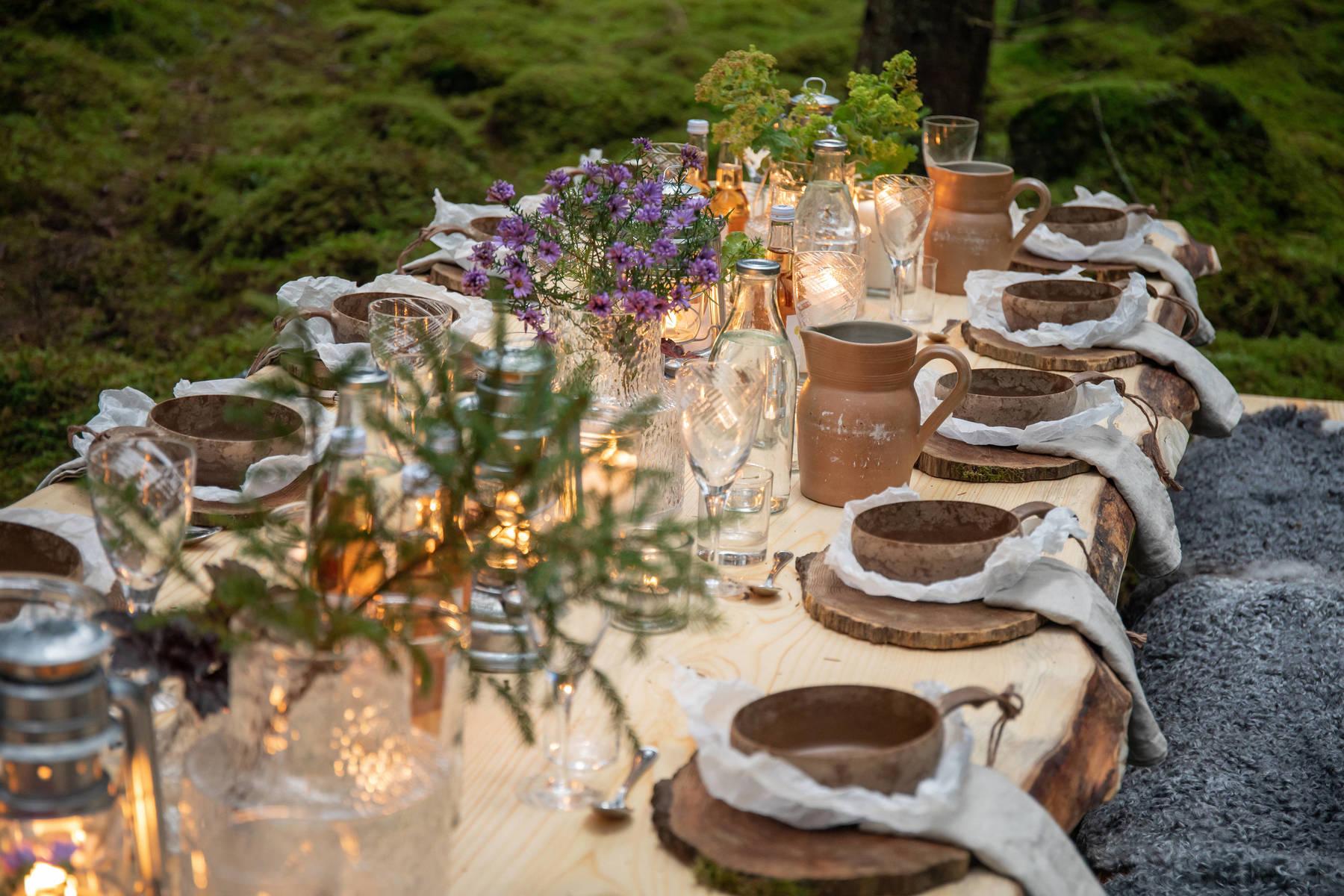 Schweden - Ein Land wird Restaurant: Gedeckter Tisch in Småland