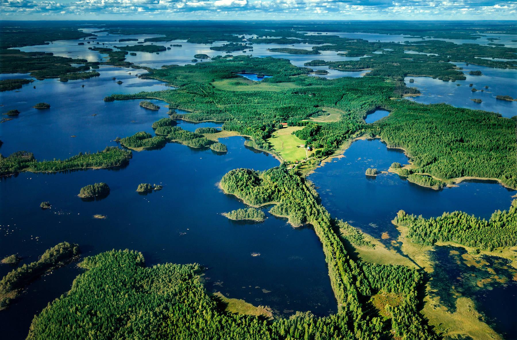 Flygbild över Åsnen