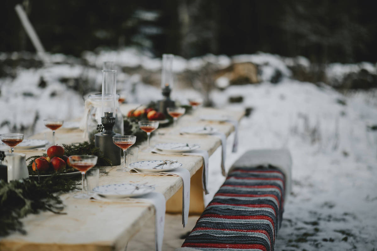 Winter has set in at the Kasteberg table