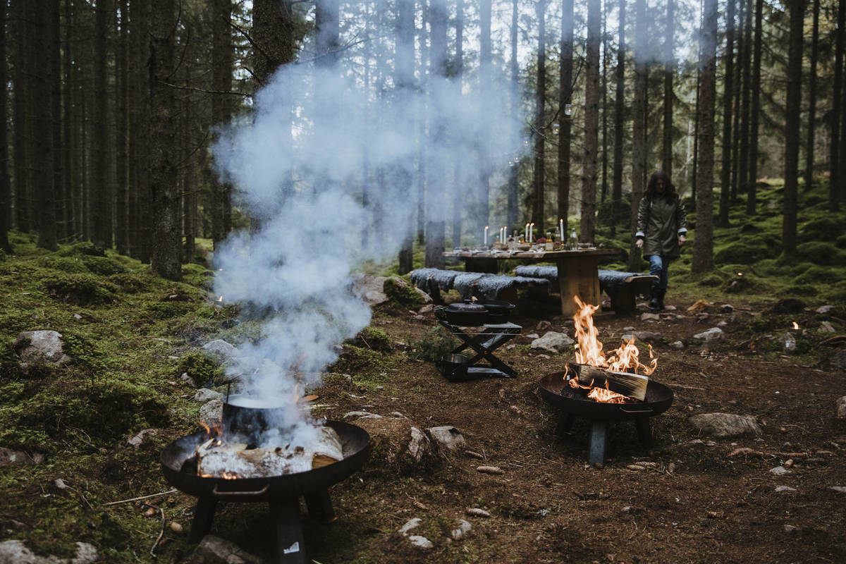 Hire a chef so you can cook your food over an open fire  ©Alexander Hall