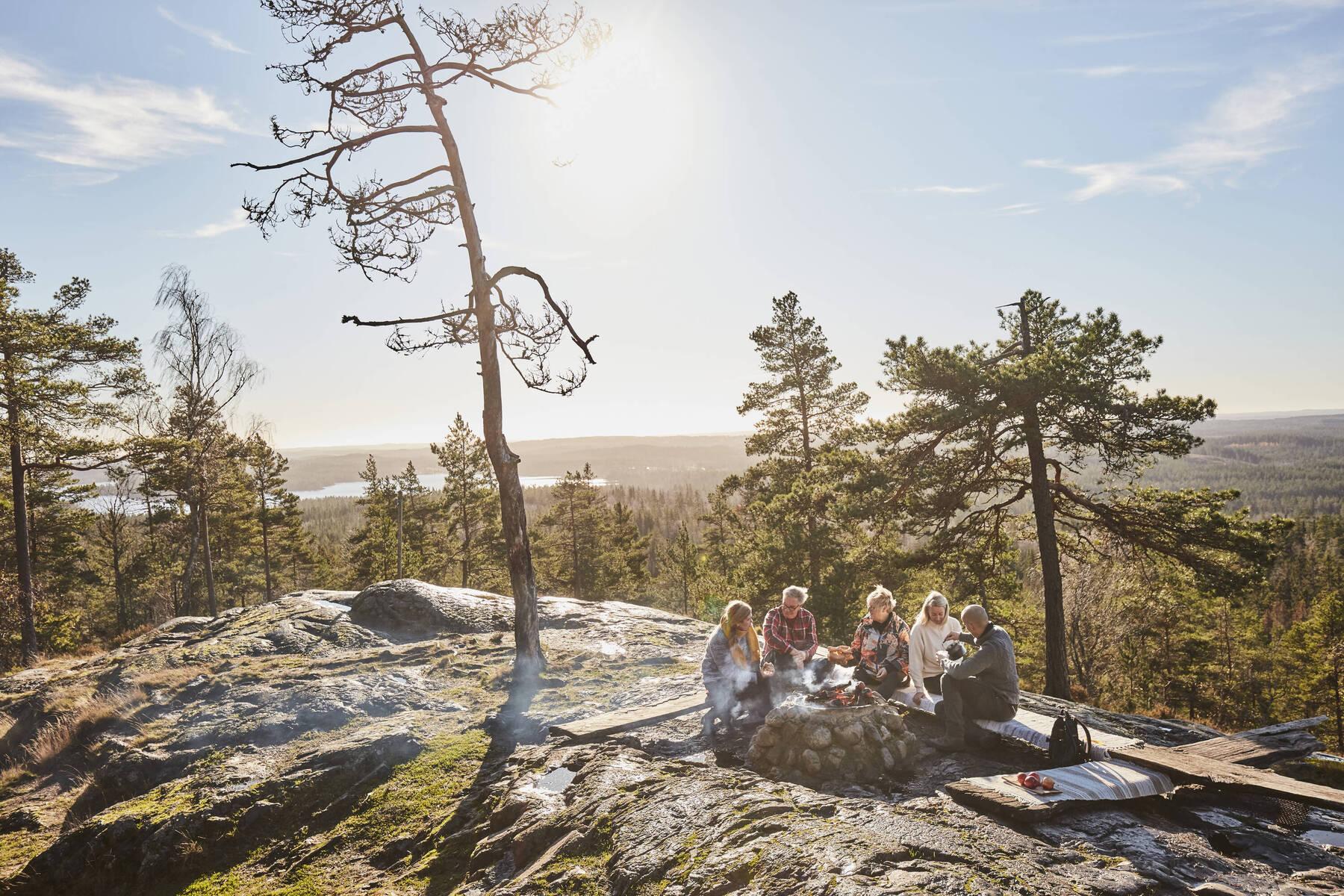 Campfire at Skuruhatt, Småland, Sweden