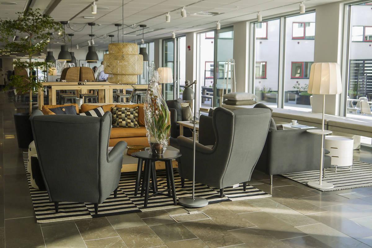 The lobby at IKEA hotel