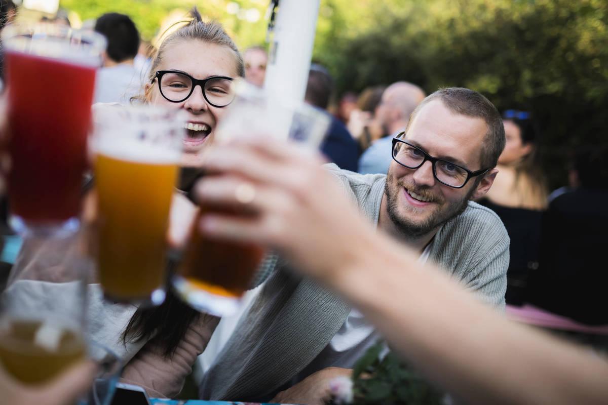 Biergarten De Luxe in Växjö gathers beer lovers during the summer
