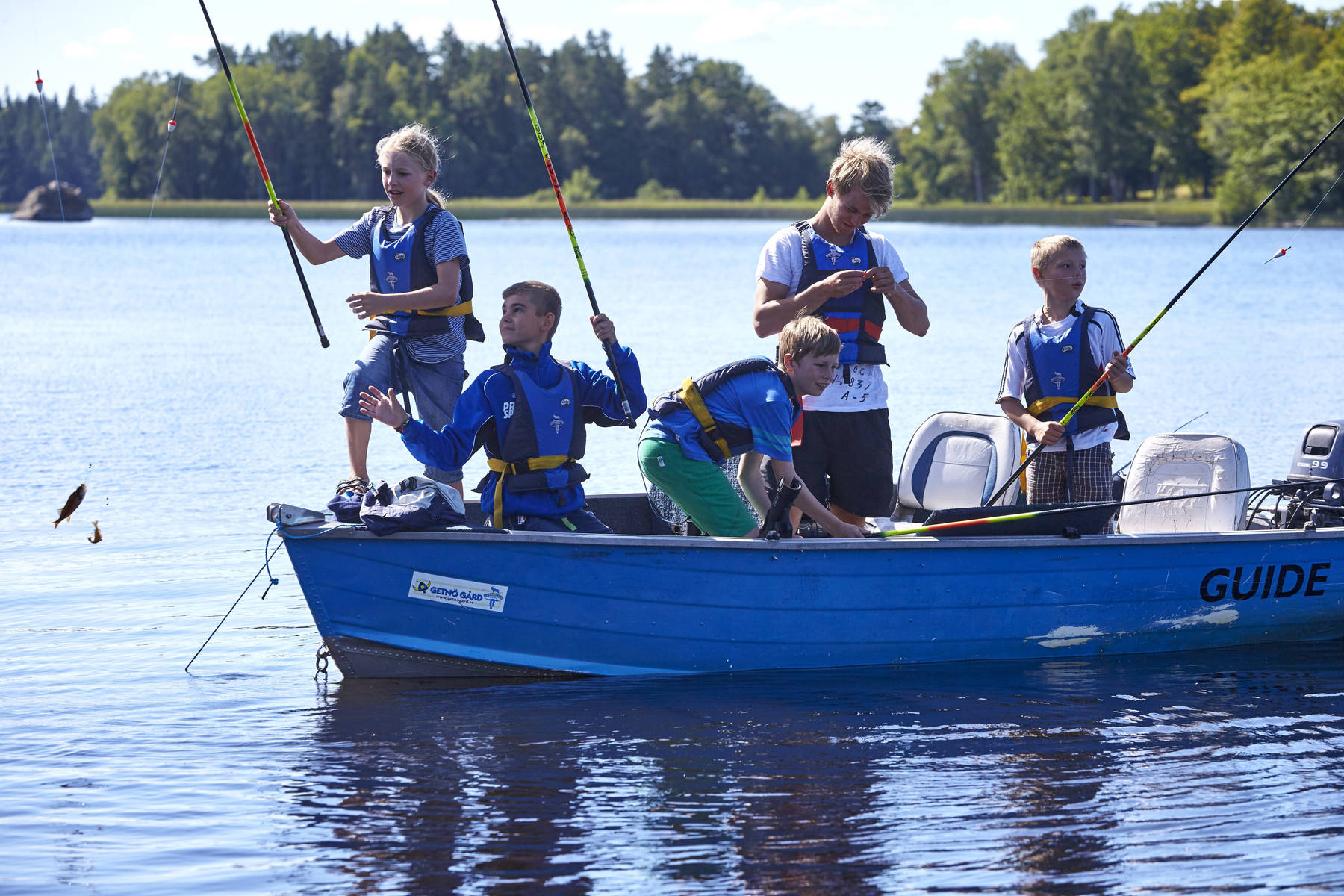 Fishing school at Getnö