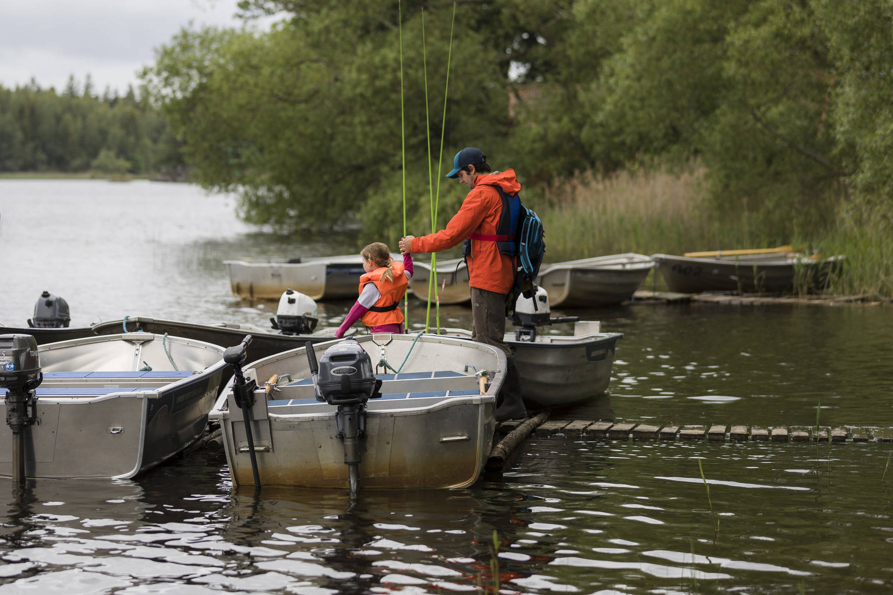 Fishing together with children