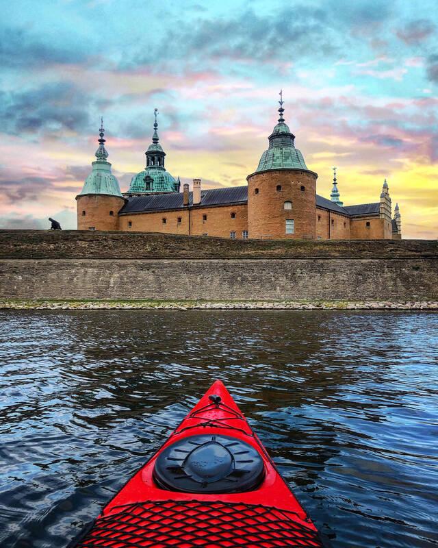 Kayaking in historical Kalmar