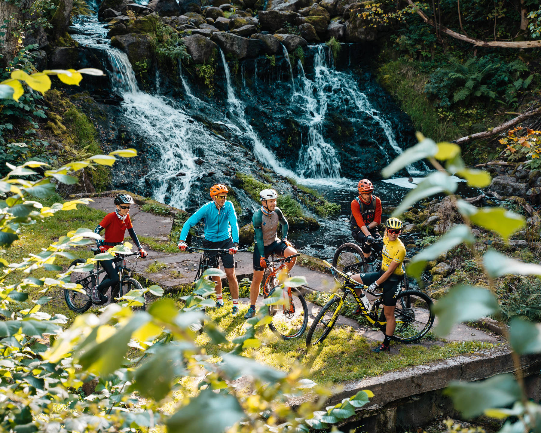 MTB by the waterfall in Röttle, Gränna