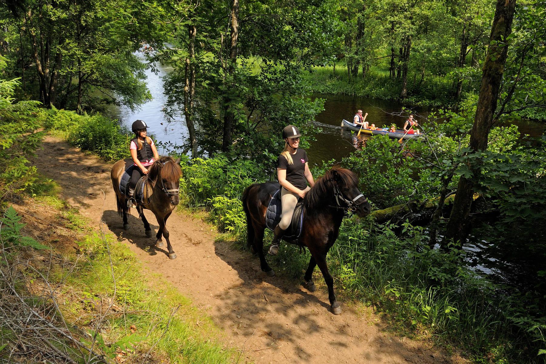 Riding along the river at Kyrkekvarn