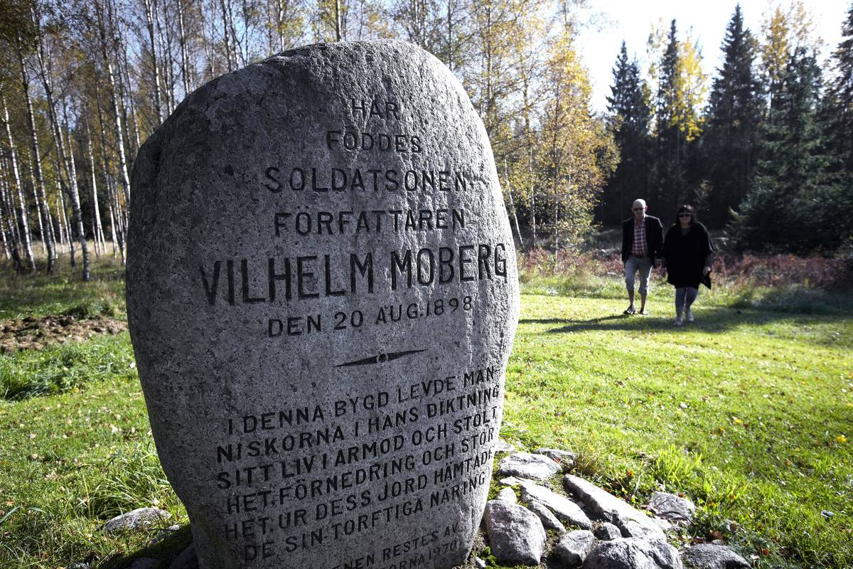 Memorial stone for Vilhelm Moberg