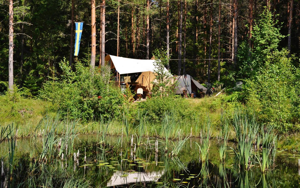 Äkta vildmark på Hätteboda Vildmarkscamping