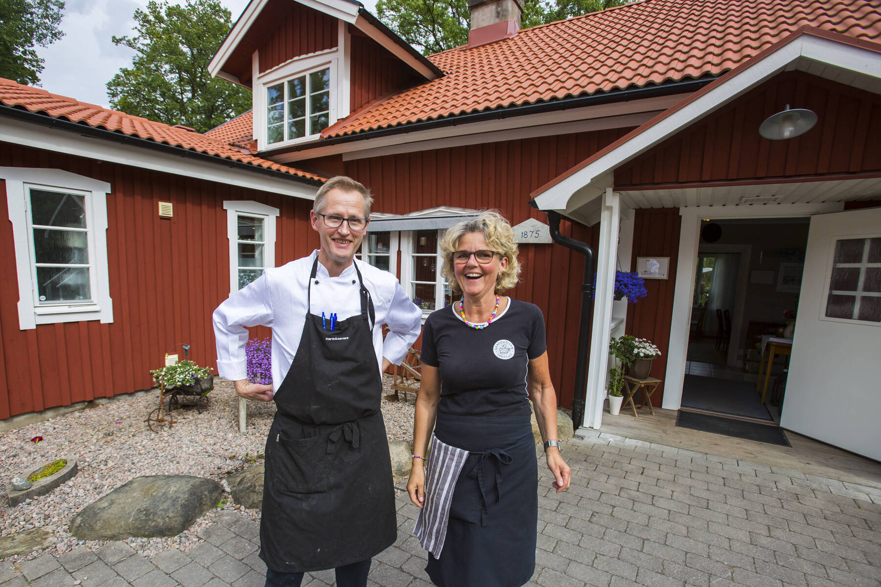 Rune och Maria på Gräddhyllan Lantcafé