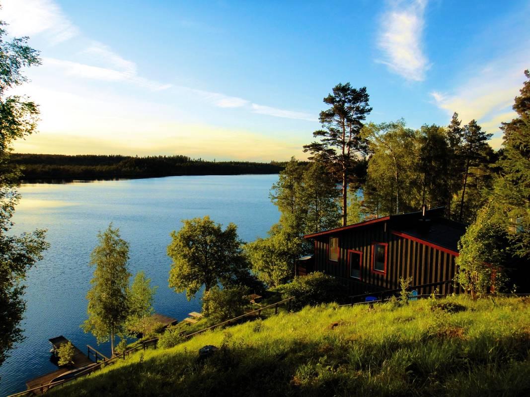 Gränna sjö hus