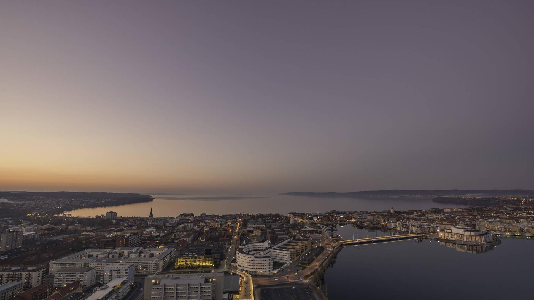 Jönköping city solnedgång