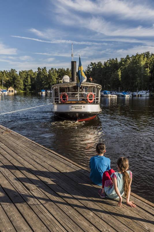 Boxholm II båt på vatten