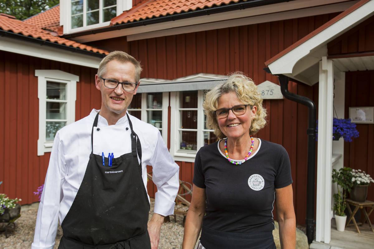 Rune och Ulla på Gräddhyllan Lantcafé