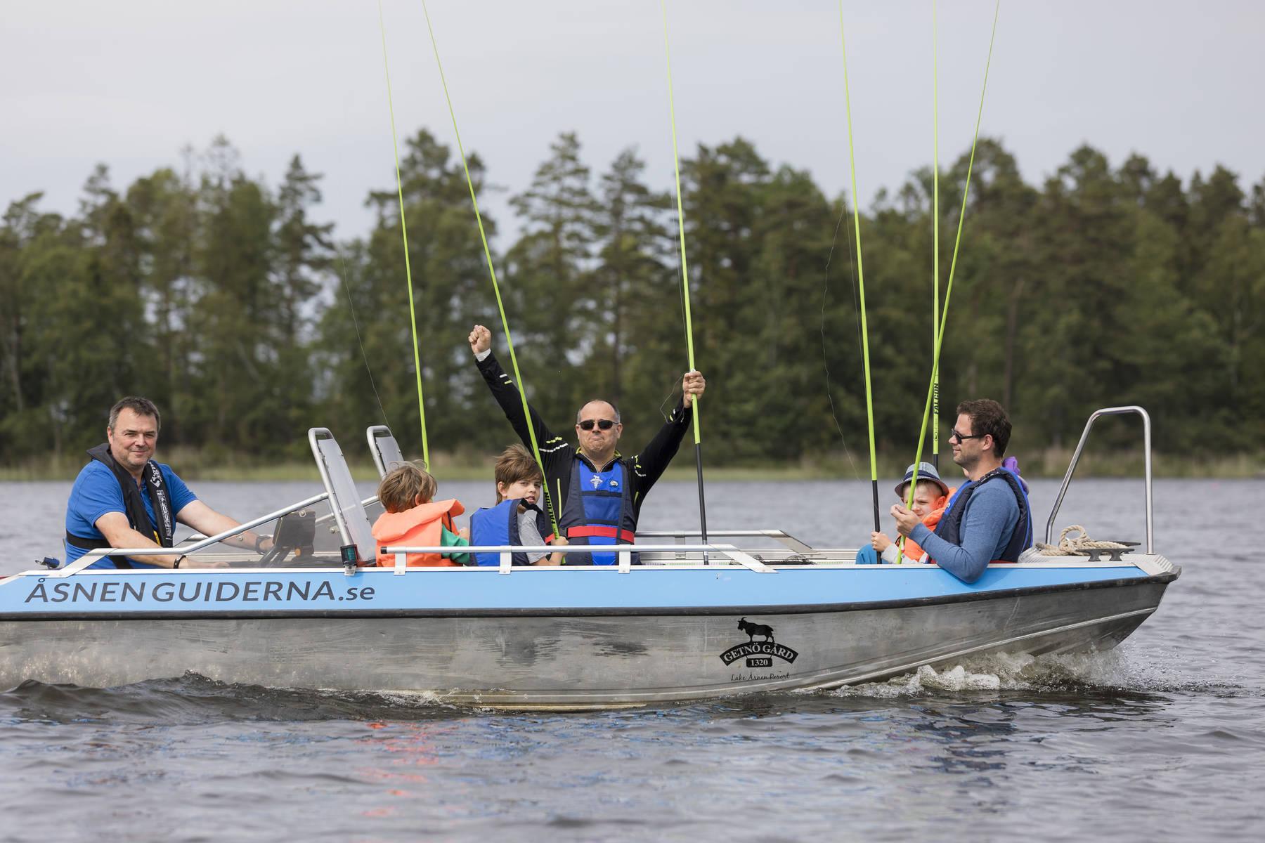 Fiskehumöret är på topp på Åsnen
