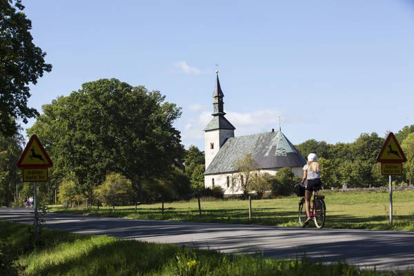 Den lugna ön passar bra att cykla på