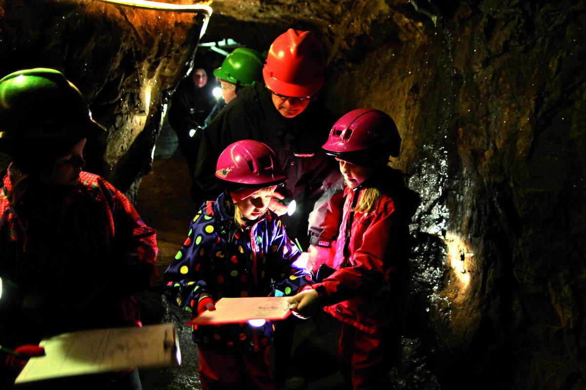 På upptäcktsfärd i Kleva gruva