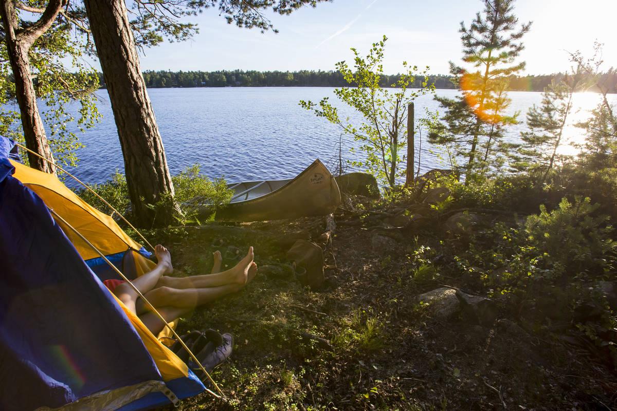 Solnedgången är en bra belöning efter en dag på sjön