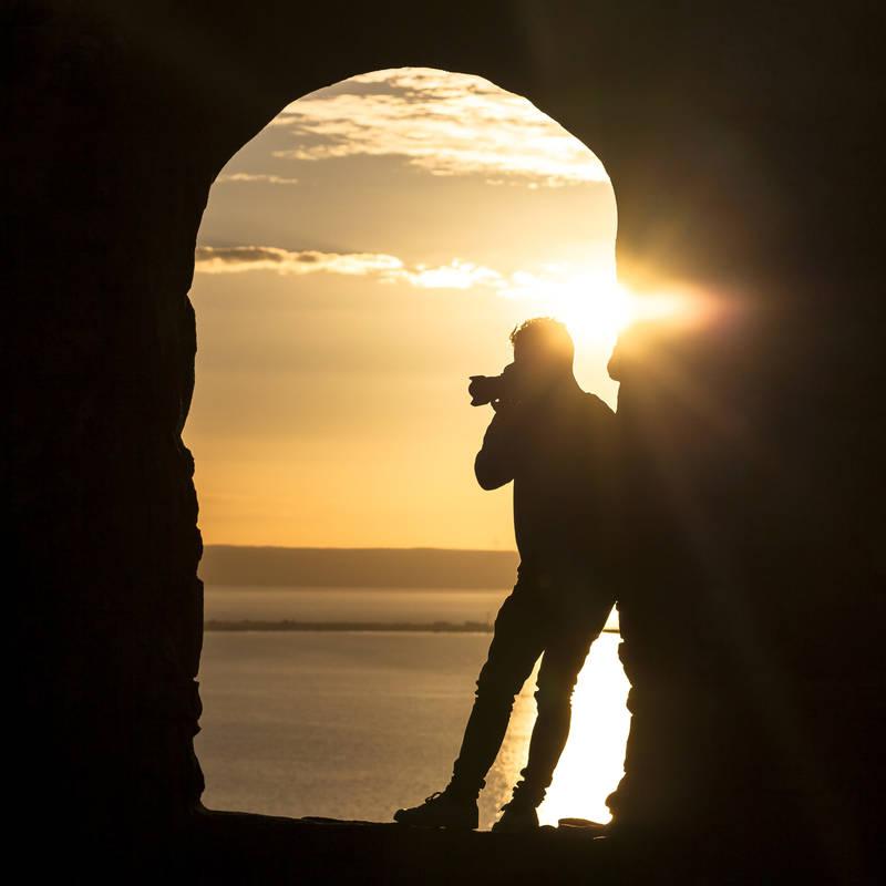 Solnedgången över Vättern och Visingsö